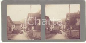 1913 FULPMES (STUBAITAL, AUSTRIA) Gasthof Lutz - Foto stereoscopica ANIMATA