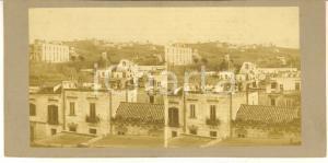 1910 ca NAPOLI Veduta panoramica con il Monte Capone - Foto stereoscopica