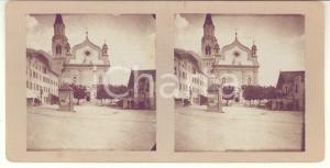 Agosto 1913 CORTINA D'AMPEZZO Chiesa SS. Filippo e Giacomo - Foto stereoscopica
