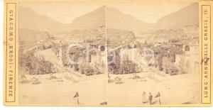 1890 ca Area del MONCENISIO - Veduta panoramica - Foto stereoscopica BROGI