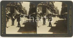1908 BUENOS AIRES (ARGENTINA) Calle FLORIDA -  Foto stereoscopica WHITE ANIMATA
