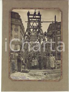 1922 PARIS Monument aux morts de Montrouge - Mise en place - Photo RARE 17x22 cm
