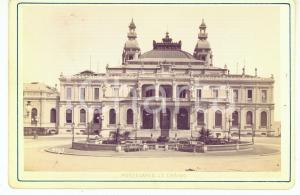1890 ca MONTECARLO - Le Casino - Photo Alfredo NOACK Vintage 17x11 cm