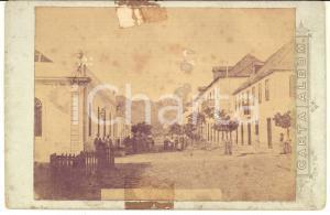 1890 ca SAINT-VINCENT Una via del centro - Foto vintage 17x11 cm DANNEGGIATA