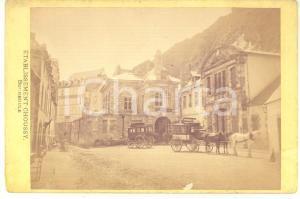 1890 ca LA BOURBOULE Etablissement CHOUSSY - Photo 17x11 SANITAS carrosses
