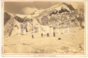 1890 ca ALPINISME Ascension au Mont Blanc - Photo TAIRRAZ CHAMONIX 17x11 cm
