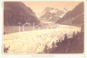 1890 ca ALPES Mer de Glace - MONTANVERT - Photo TAIRRAZ CHAMONIX 17x11 cm