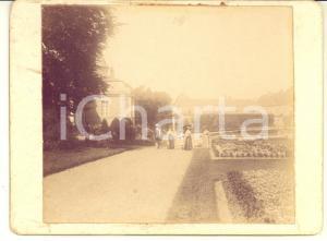 1903 Château de MODAVE (BELGIQUE) Entrée du Parc - Foto vintage 12x9 cm
