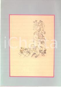 1930 ca EROTICA VINTAGE Fraticelli con donne nude *Disegno acquerellato 21x30 cm
