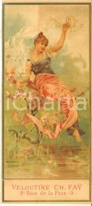 1890 ca PARIS Veloutine Charles FAY Poudre de riz (3) VINTAGE chromo 7x15