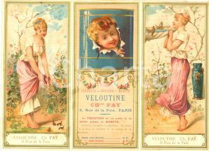 1890 ca PARIS Veloutine Charles FAY Poudre de riz *VINTAGE Advertisement 19x15
