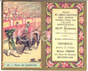 1894 BRUXELLES Parfumerie POSKIN - Dentifrice Abbaye SOULAC - Pocket calendar