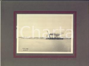 1928 ANTWERPEN Veduta del porto con battello in navigazione - Foto RUBBENS 29x22