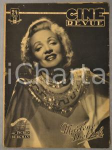 1949 CINE REVUE Marlène Dietrich - Confidences sur Ingrid Bergman n° 13