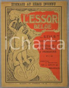 1922 L'ESSOR BELGE Louis Boumal - Le Soldat Inconnu - Revue n° 13