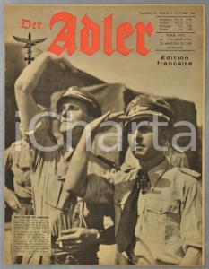 1943 WW2 DER ADLER Construction chasseurs Me 109 - Moines du Mont Athos