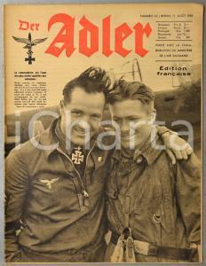 1942 WW2 DER ADLER Lieutenant Hans MARSEILLE - Quartier Général Croix Rouge