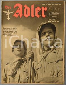 1942 WW2 DER ADLER Luftwaffe de la Carélie au Caucase - Parachutistes en Afrique
