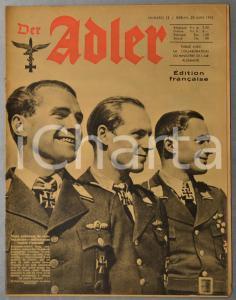 1943 WW2 DER ADLER Port de Bône bombardé - Aviateurs finlandais Croix Mannerheim