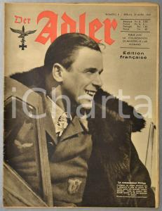 1943 WW2 DER ADLER Commandant Hans PHILIPP - Bombardements anglais en Tunisie