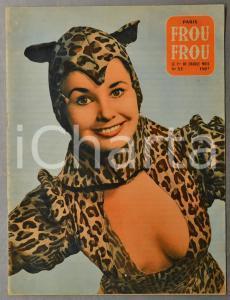 1955 PARIS Revue FROU FROU - Carole LOGAN - French Magazine glamour n°33