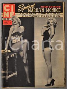 1962 CINÉ TÉLÉ-REVUE Spécial Marilyn Monroe - Album-Souvenir n° 33 ILLUSTRÉ