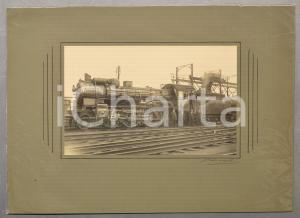 1930 ca BELGIQUE Chemin de fer - Locomotive 6453 avec cheminots *Photo DE RYCK