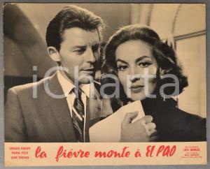 1959 LA FIEVRE MONTE A EL PAO Gérard Philippe - Maria Félix *Manifestino CINEMA