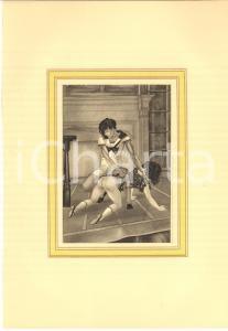 1932 VINTAGE EROTIC - FLOGGING - MARILAC Mademoiselle cinglade - Plate (4) 20x29