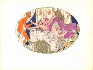 1925 VINTAGE EROTIC Gerda WEGENER Les délassements d'Eros - Aquarelle (1) 26x19