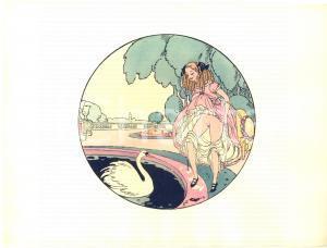 1925 VINTAGE EROTIC Gerda WEGENER Les délassements d'Eros - Aquarelle (2) 26x19