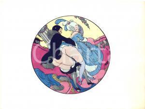 1925 VINTAGE EROTIC Gerda WEGENER Les délassements d'Eros - Aquarelle (4) 26x19