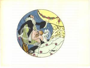 1925 VINTAGE EROTIC Gerda WEGENER Les délassements d'Eros - Aquarelle (5) 26x19