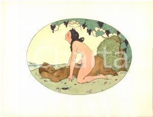 1925 VINTAGE EROTIC Gerda WEGENER Les délassements d'Eros - Aquarelle (7) 26x19