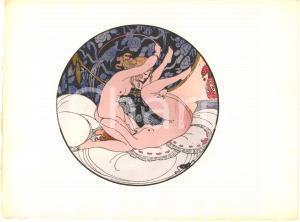 1925 VINTAGE EROTIC Gerda WEGENER Les délassements d'Eros - Aquarelle (8) 26x19
