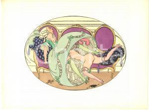 1925 VINTAGE EROTIC Gerda WEGENER Les délassements d'Eros - Aquarelle (9) 26x19
