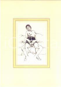 1950 ca EROTICA VINTAGE Coppia nuda - Scena di sesso *Disegno china 20x28 cm