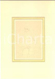 1930 ca EROTICA VINTAGE Coppia nuda - Scena di sesso (2) Disegno matita 20x28 cm