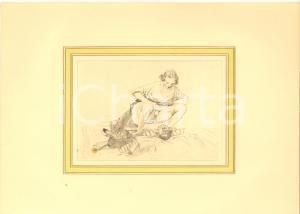 1900 ca EROTICA VINTAGE Coppia sdraiata - Scena di sesso (5) Stampa 28x20 cm
