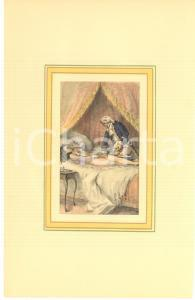 1900 ca VINTAGE EROTIC Couple on the bed - Engraving 19x28 cm