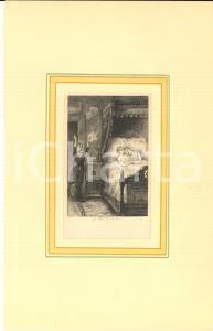 1880 ca Jules-Armand HANRIOT Couple lesbien - Scene érotique *Gravure 18x28 cm