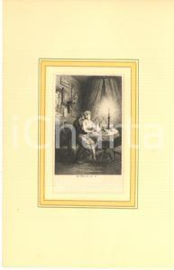 1880 Jules-Armand HANRIOT Couple dans son salon - Scene érotique *Gravure 18x28