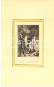 1880 Jules-Armand HANRIOT Couple dans un boudoir *Gravure 18x28 cm