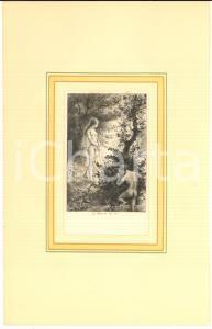 1880 Jules-Armand HANRIOT Nymphe au bord d'un lac - Scene érotique - Gravure