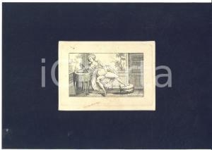 1800 ca VINTAGE EROTIC Masturbation - Woman at the mirror - Engraving