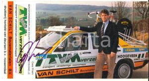 1990 ca CICLISMO Cees PRIEM - Cartoncino TVM Verzekeringen con AUTOGRAFO