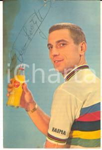 1965 ca CICLISMO Rik VAN LOOY - Cartoncino pubblicitario SINALCO con AUTOGRAFO