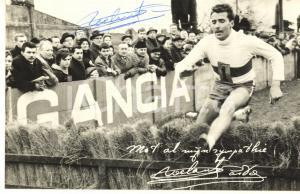 1970 ca ATLETICA SIEPI Gaston ROELANTS - Sponsor GANCIA *Foto seriale AUTOGRAFO