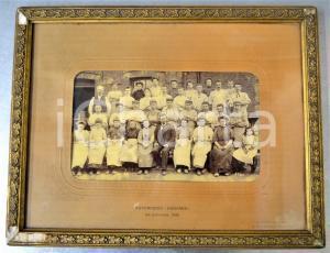 1901 LA LOUVIERE (B) Fayencerie KERAMIS - Foto di gruppo in cornice 36x28 cm