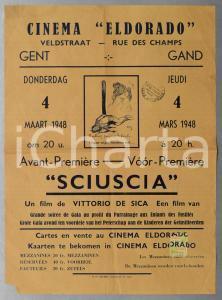 1948 GAND Cinema Eldorado - Avant-Première SCIUSCIÀ Vittorio DE SICA Manifesto